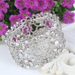 Bella Fashion Love Heart Elastic Bridal Bracelets & Bangles Austrian Crystal <b>Wedding</b> Bracelet For Bride Bridesmaid Party <b>Jewelry</b>