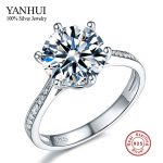 Big Promotion 100% Solid <b>Silver</b> Wedding Rings for Women Real 925 <b>Sterling</b> <b>Silver</b> 1.5 Carat CZ Diamant Ring <b>Jewelry</b> Wholesale Y11