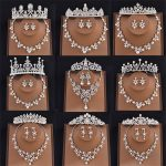 Mansati Crystal Bridal <b>Jewelry</b> Sets Tiaras and Crowns Necklace and Earrings Set Simulated Pearls Wedding Accessories <b>Jewelry</b> Set