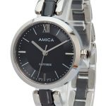 Amica 2018 Women's D-Ceramics Quartz Sapphire <b>Silver</b> Tone Stainless Steel Wrist Watches A-1-8