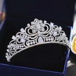 Micro Paved Cubic Zircon Flower Tiara Clover Full Zirconia Crown <b>Wedding</b> Hair Accessories Bridal <b>Jewelry</b> CZ Coroa Novia WIGO1265
