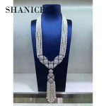 SHANICE Gifts DIY Women Luxury Pearls Necklace Making Findings <b>Supplies</b> Paved Zircon Connector Suspension Pendants Accessories