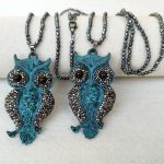 4 Strands Hematite beads Chains necklace,Owl <b>Antique</b> Bronze Charm,With Crystal Rhinestone Pave Pendant <b>Jewelry</b> necklaces NK284