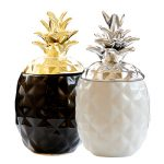Home <b>Supplies</b> Creative Ceramics Plating Gold Pineapple Storage Tanks <b>Jewelry</b> Food Multifunctional Piggy Bank Decorative Accessor