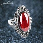 JIASHUNTAI Vintage 925 Sterling Silver Rings For Women Retro <b>Wedding</b> Rings Thai Silver <b>Jewelry</b> Female Best Gifts