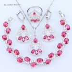 L&B The Most Popular France Style For Romantic Birthday Present Jewelry Set <b>Bracelet</b> Pendant Necklace Earrings Rings