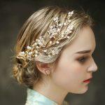 Jonnafe Gold Exquisite Flower Pearl <b>Wedding</b> Hair Vine Bridal Accessories Headband Vintage Women Headpiece Hair <b>Jewelry</b>