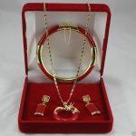 Prett Lovely Women's Wedding New <b>Jewelry</b> gem Circle dragon Pendant Necklace Earring Bracelet Set silver <b>jewelry</b>