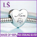 2018 Spring New Arrival Real 925 <b>Silver</b> NAN'S LOVE CHARM Fit Original Bracelets&<b>Necklace</b> DIY Gift.Women Wedding Jewelry Beads.XZ