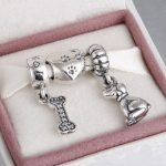 Fits Brand Charms <b>Bracelet</b> and Necklace 925 Sterling <b>Silver</b> charm sets sparkling Beads/Dogs Charms Beads for Women & Men Jewelry