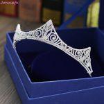 Jonnafe Luxury AAA Zircon Bridal Crown Tiara Wedding Hair <b>Jewelry</b> Accessories Women Birthday Party Crowns Headpiece