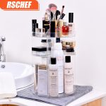 RSCHEF torage <b>supplies</b> rotating makeup organizer rack Acrylic makeup storage box organizer box