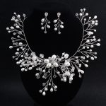 Dower me Charming Women Prom <b>Jewelry</b> Sets <b>Handmade</b> Pearls Bridal Necklace with earrings Wedding Accessories