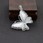 FNJ 925 Silver Opal Pendant 100% Pure S925 Solid Thai Silver Butterfly Pendants for Men <b>Jewelry</b> <b>Making</b>