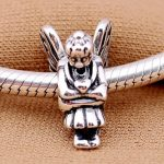 Angel Of Love Silver Beads for Women DIY <b>Jewelry</b> <b>Making</b> Clear CZ Heart Wing Angel Charm Beads Fit Charms Bracelets