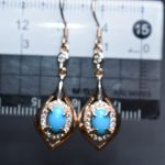 On Sale Fine Jewelry real high quality 925 sterling <b>Silver</b> 100% Natural Turquoise Gemstone <b>Earrings</b> For Women Fine <b>earrings</b>