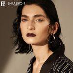 Enfashion <b>Jewelry</b> Geometric Ribbon Earrings Gold color Stainless steel Long Drop Earrings For Women Earings EB171039