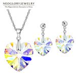 Neoglory <b>Jewelry</b> Sets MADE WITH SWAROVSKI ELEMENTS Crystal With Transparent <b>Necklaces</b> Earrings For Women 2018 New Gifts T1