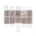 About 1585Pcs/Box Lobster Claw Clasps Twist Chain Links Drop Ends Gauge Open Jump Rings Tool <b>Jewelry</b> <b>Making</b> Findings