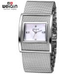 WEIQIN <b>Silver</b> Women Watches Luxury High Quality Water Resistant Montre Stainless Steel Dress Woman Wrist Watches orologio donna