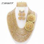 Fashionable African Beads <b>Jewelry</b> Sets Nigerian <b>Wedding</b> African Crystal Beads <b>Jewelry</b> Set HD2126
