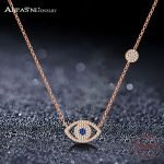 ANFASNI Hot Sale 925 Sterling Silver Tiny CZ Pave Eyes Elegant Necklace For Women Luxury S925 <b>Jewelry</b> <b>Fashion</b> Gift CGSNL0015
