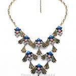 Hot Sales <b>Jewelry</b> New Arrival Multi Finish Costume Match Women Elegant <b>Antique</b> Gold Color Statement Necklace