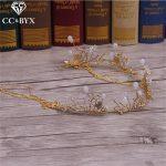 CC <b>Jewelry</b> <b>Handmade</b> Wedding Decorations Hair Ornaments For Women Party Elegant Bridal Hair Accessory Bride Flowers Beads 1161