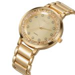 WEIQIN Rose Gold <b>Silver</b> Rhinestone Watches Women Luxury Brand Fashion Steel Quartz Watch Lady Waterproof Crystal Wristwatch