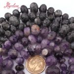 5×8-12x16mm Faceted Rondelle Amethysts,Labradorite Natural Stone Loose Beads For DIY Necklace <b>Jewelry</b> <b>Making</b> 18″ Free Shipping