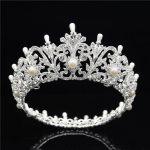 Baroque Bridal tiara <b>Wedding</b> accessories Tiaras and Crowns Headdress Prom Diadem Royal Queen King crown flower hair <b>jewelry</b>