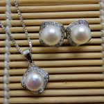 Pearl Jewelry Sets 100% Guaranteed Real 925 Sterling <b>Silver</b> Jewelry Sets With Freshwater Pearl YH50784