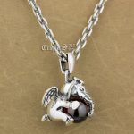 925 Sterling <b>Silver</b> Lovely Dumbo Red CZ Stone Pendant 9S106A 92.5% Sterling <b>Silver</b> <b>Necklace</b> 24 inches