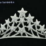 Luxury Bridal Quinceanera Tiaras and Crowns Stars Tiara Crown Wedding Head Piece <b>Jewelry</b> Austrian Crystals 2015 Brand SHA8601