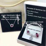 6pcs Fashion <b>Jewelry</b> Set S925 Silver Rose Red Series CZ Dangle Charms and Bracelet Necklaces Set <b>Jewelry</b> <b>Making</b> Woman Gift