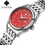 Luxury Brand Women Watches 50m Waterproof Date Clock Ladies Quartz Sports Wrist Watch Women <b>Silver</b> <b>Bracelet</b> relogio feminino