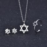 2018 Fashion S925 Silver Pendant Necklace Earrings Ring Star Shape Couple <b>Jewelry</b> Sets Women Wedding <b>Jewelry</b> <b>Accessories</b>