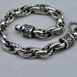 925 <b>sterling</b> <b>silver</b> Chain & Link bracelets vintage <b>jewelry</b> thai antique saint <b>silver</b> <b>jewelry</b> bracelet hand chain