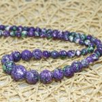 Beautiful multicolor calaite 6mm lovely purple white green stripe stone round beads diy lovely <b>jewelry</b> <b>making</b> 17 inches FR45
