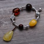 Fashion 925 Sterling <b>Silver</b> Vintage Nature Beeswax & Amber <b>Bracelet</b> Women Thai <b>Silver</b> Gift Jewelry CH058321