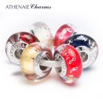 ATHENAIE 925 Sterling <b>Silver</b> Core Brilliant CZs Charm Beads Kits Fit For European Bracelets and <b>Necklaces</b>