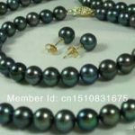 7-8mm Black Cultured Pearl Necklaces Bracelets Earrings <b>Jewelry</b> Sets DIY Fashion <b>Jewelry</b> <b>Making</b> Design Hand Made Ornaments xu82