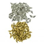 100 Pieces <b>Antique</b> Angel Wing Heart Charm Spacer Beads <b>Jewelry</b> DIY Makings