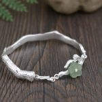 925 <b>Silver</b> Flower Bangle <b>Bracelet</b> Fashion Natural Yu Stone 100% Original S925 Thai <b>Silver</b> <b>Bracelets</b> for Women Jewelry