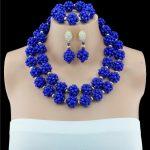 New Fashion Two <b>HandMade</b> Balls Blue <b>Jewelry</b> Set Bridal <b>Jewelry</b> Sets Statement Necklace African Beads <b>Jewelry</b> Set Free Shipping