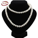 SNH 9mm Potato Shape 90cm A grade Natural Freshwater Long Pearl <b>Necklace</b> Long Pearl <b>Necklace</b> for Woman