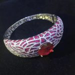 925 <b>sterling</b> <b>silver</b> with cubci zircon bangle fashion women <b>jewelry</b> free shipping red color