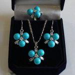 Women's Wedding Fashion 8mm Blue South Sea Shell Pearl GP Crystal Earring Pendant Ring Set real silver –<b>jewelry</b>