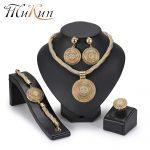 MuKun African Beads <b>Jewelry</b> Set Round Pendant Gold color Dubai Big <b>Necklace</b> <b>Jewelry</b> sets Nigerian Bridal wedding <b>Jewelry</b> 2018