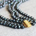 New For Necklace 7-8mm Natural Round Black Shell pearl beads Necklace women girls gift <b>Jewelry</b> <b>making</b> design 17-19inch Wholesale